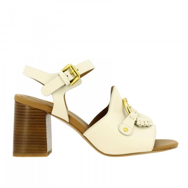 See By ChloÉ sandal in leather with metal ring