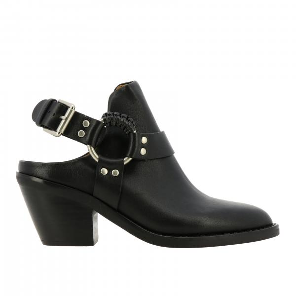 See By ChloÉ ankle boot in leather with straps