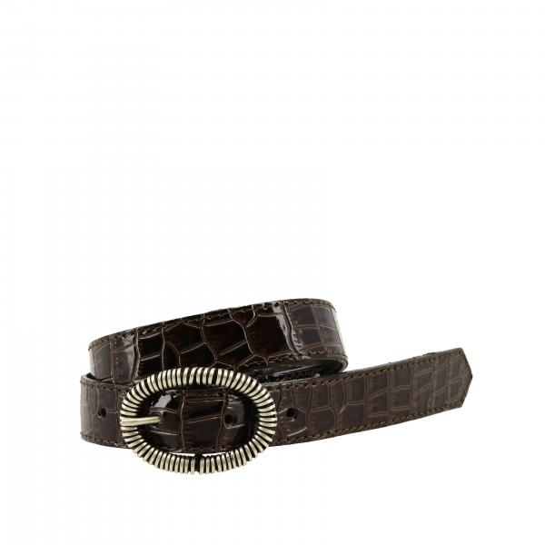 Nupkeet belt in crocodile print leather