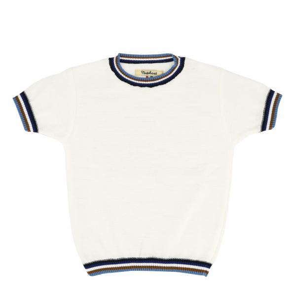 Nupkeet short-sleeved sweater with striped edges