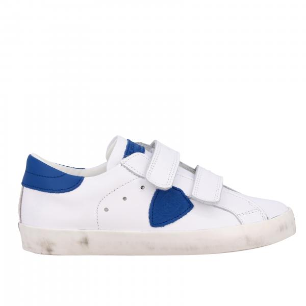 Philippe Model sneakers in smooth leather with strap buckles