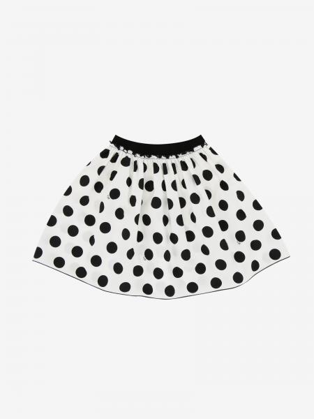 Il Gufo polka dot skirt