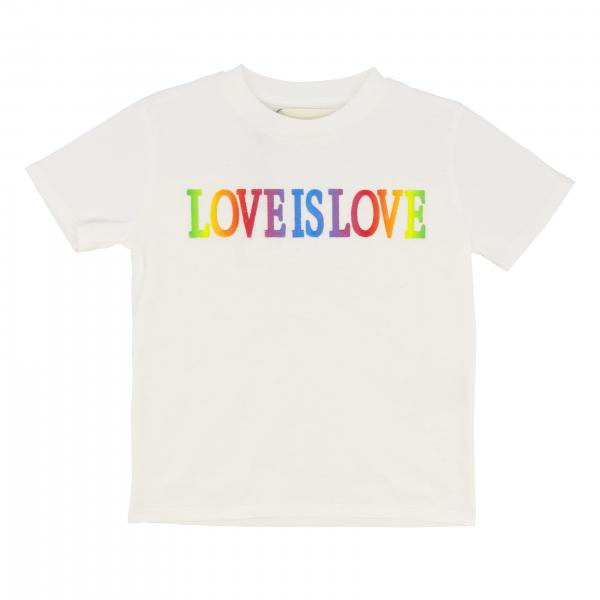 T-shirt Alberta Ferretti Junior con scritta love is love