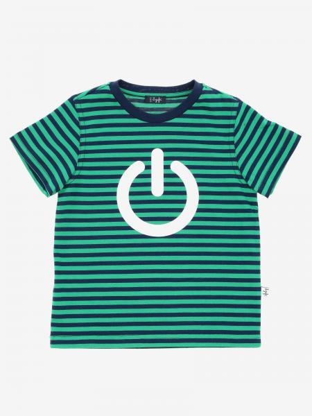 Il Gufo 印花条纹T恤