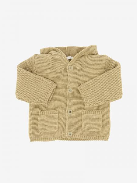 Giacca in maglia Il Gufo con cappuccio