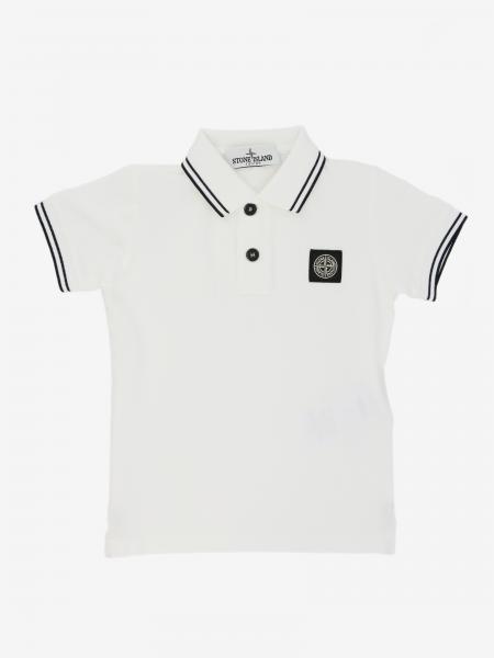 Stone Island Junior logo 短袖POLO衫