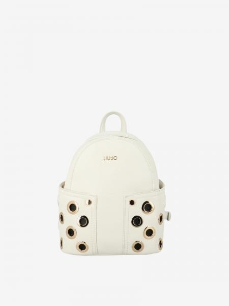 Liu Jo mini backpack in textured synthetic leather with metal sails