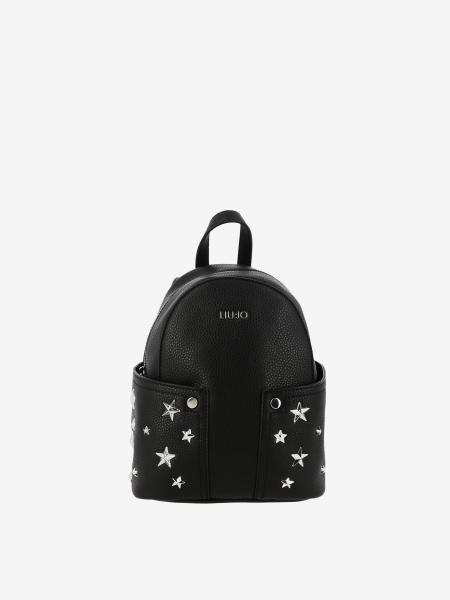 Liu Jo mini backpack in textured synthetic leather with metallic stars