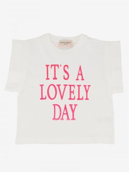 T-shirt Alberta Ferretti Junior con scritta