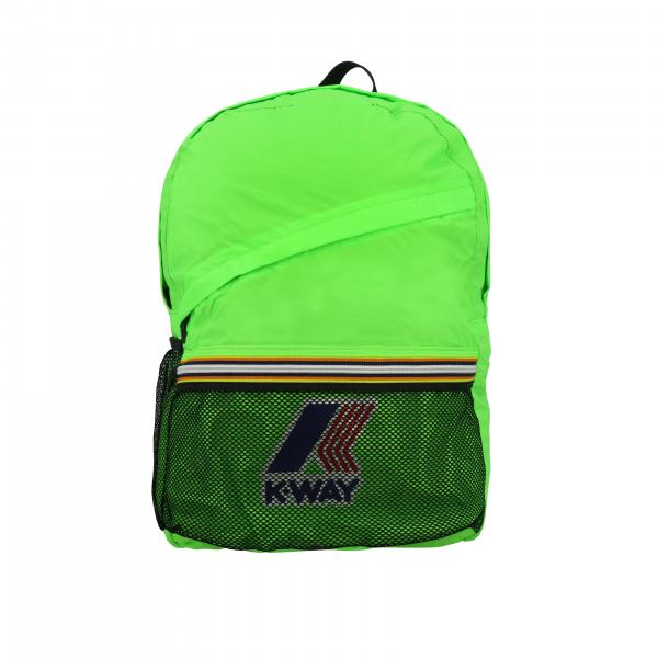 Zaino K-way in nylon con stampa logo
