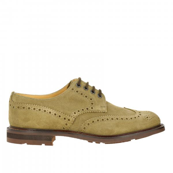 Church's suede lace-up with brogue motif