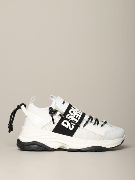 Sneakers Dsquared2 in pelle e rete imbottita