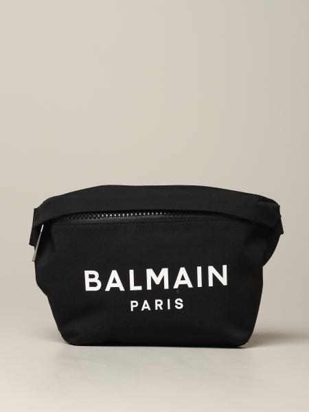 Marsupio Balmain in tela con stampa logo