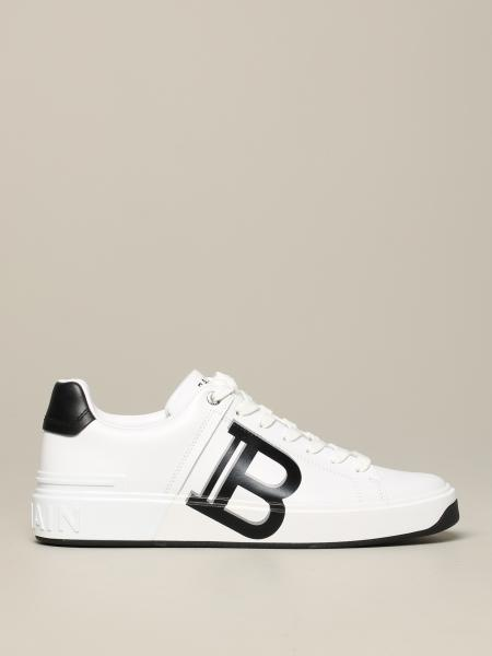 Sneakers Balmain in pelle liscia con big logo