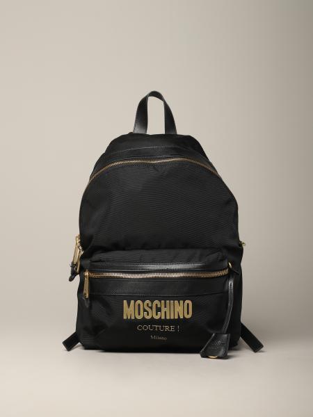 Zaino Moschino Couture in tela con logo laminato