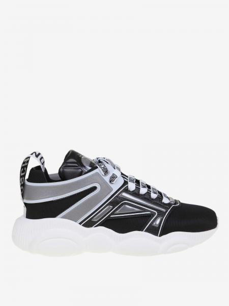 Moschino Couture 泰迪熊鞋底真皮帆布运动鞋