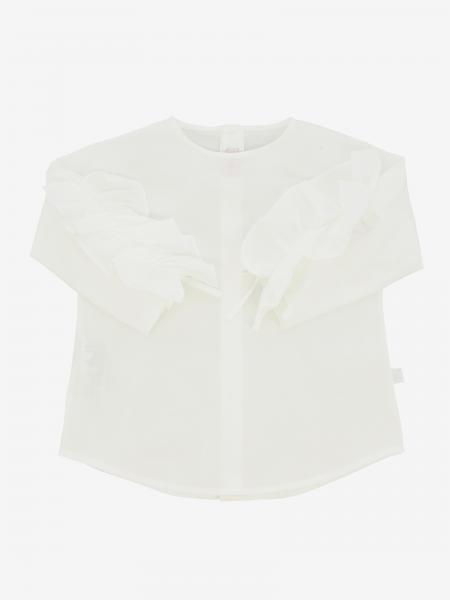 Il Gufo long-sleeved shirt with ruffles