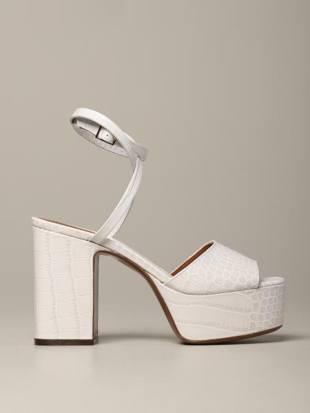 L'autre Chose sandal in textured leather