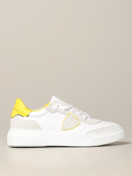 Philippe Model Temple sneakers in leather and suede