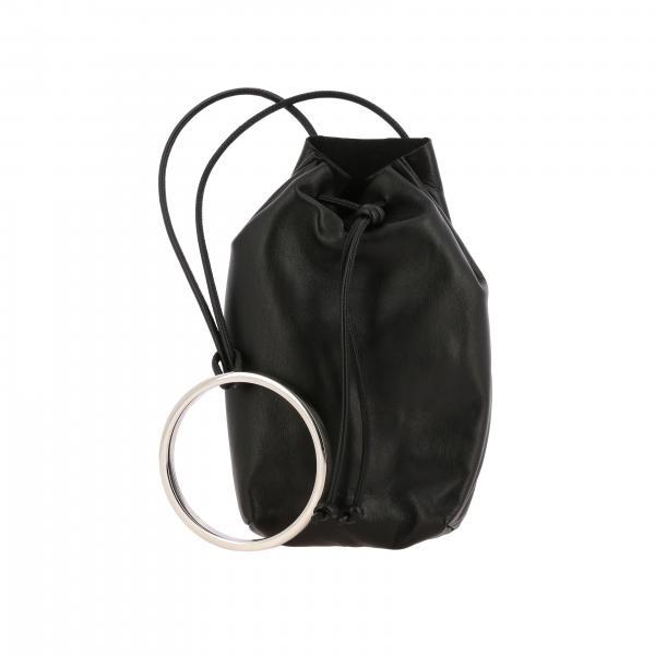 Borsa a mano Jil Sander in pelle liscia con anello metallico