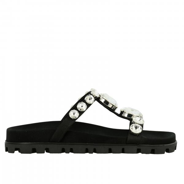 Miu Miu Sandale mit Strass Steinen