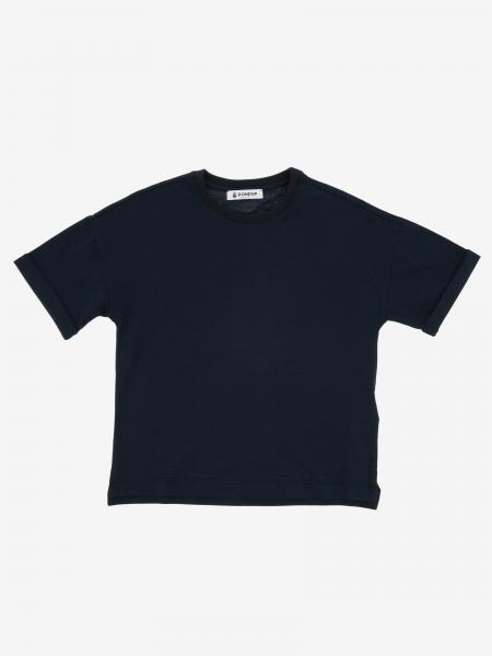 Dondup T-Shirt mit Logo auf der Rückseite