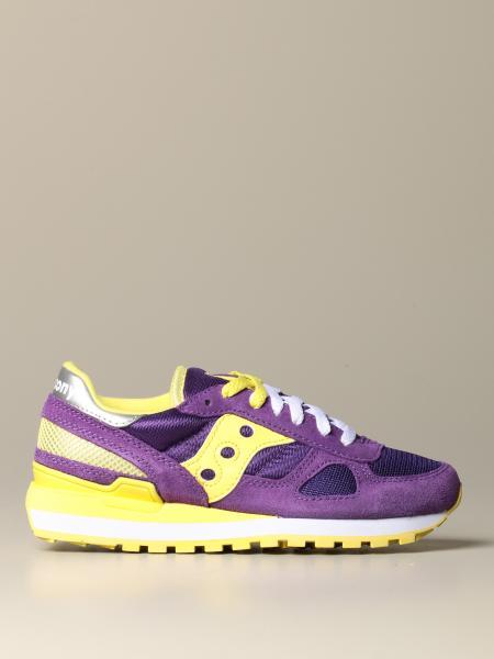 Sneakers Saucony in camoscio e rete con logo