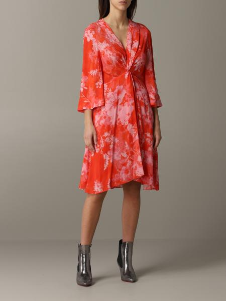 Pinko printed v dress