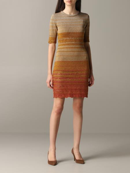 Twin-set knitted dress