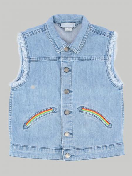 Gilet di jeans Stella Mccartney con arcobaleno