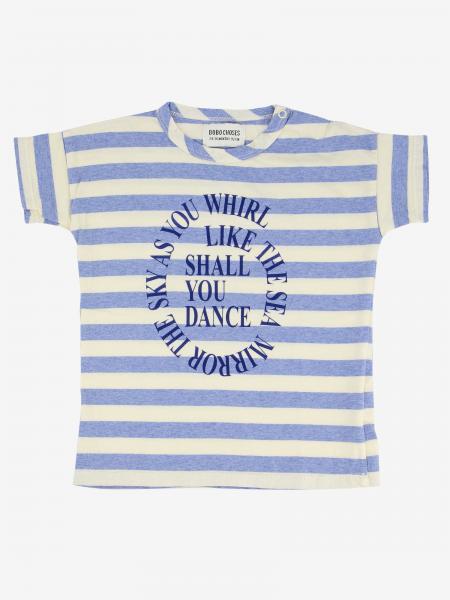 T-shirt Bobo Choses a righe con scritta