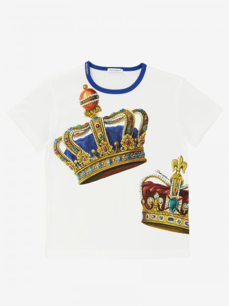 T-shirt Dolce & Gabbana à manches courtes avec imprimé couronne
