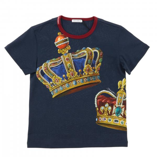 Dolce & Gabbana short-sleeved T-shirt with crown print
