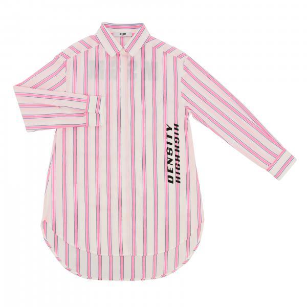Abito Msgm Kids a camicia con logo