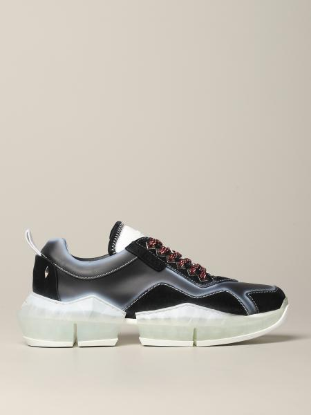 Sneakers Diamond Jimmy Choo in pelle e camoscio