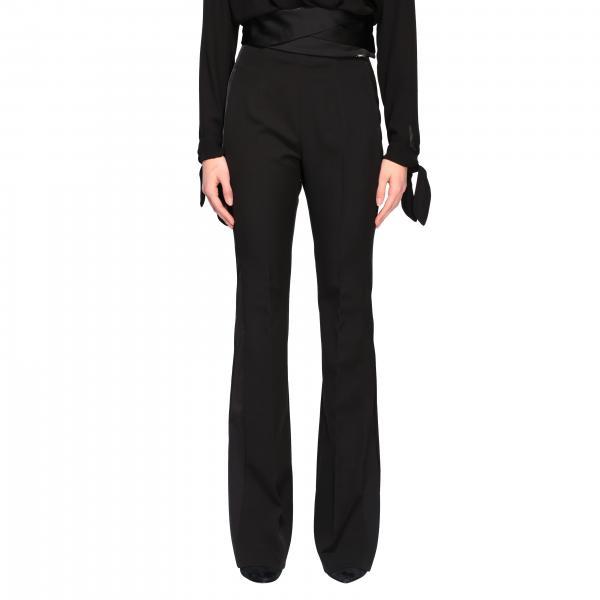 Liu Jo tuxedo trousers with satin details