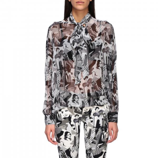 Camicia Liu Jo stampata con collo a foulard