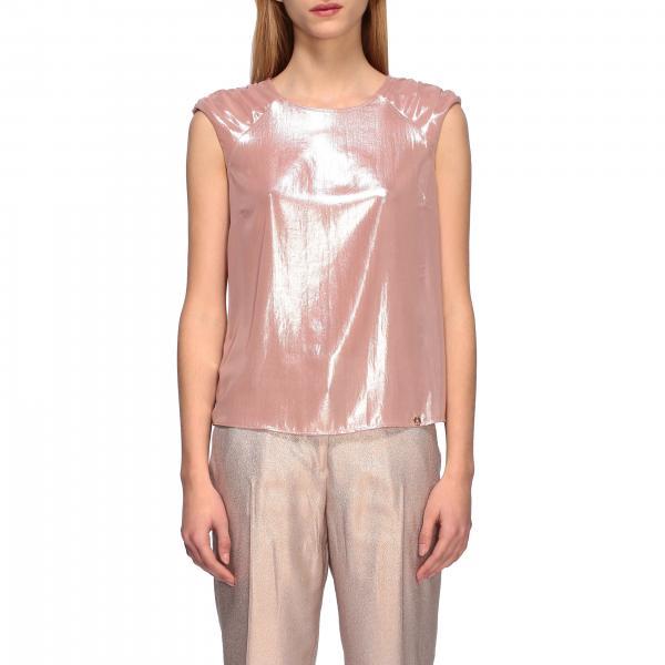 Top Liu Jo in tessuto metallizzato