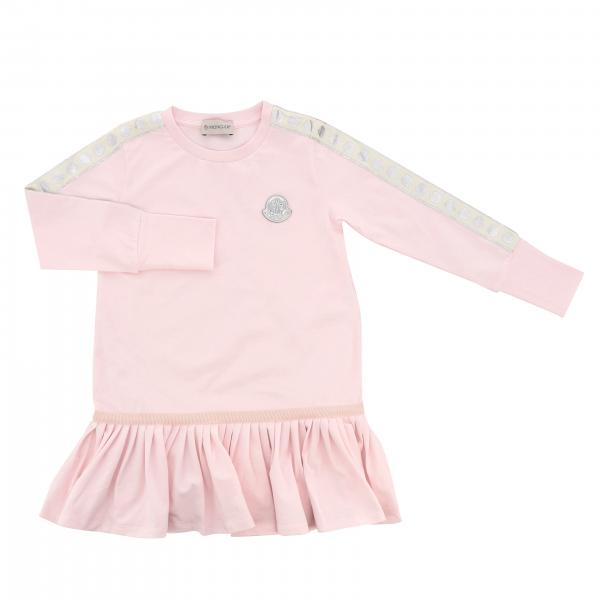 Moncler dress with flounce and logo