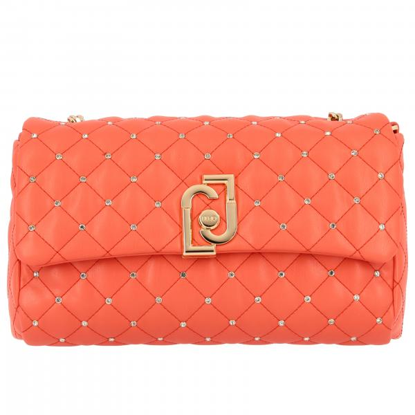 Liu Jo shoulder bag in quilted synthetic leather with rhinestones
