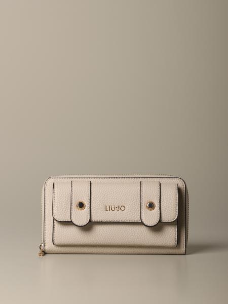 Liu Jo 外口袋装饰人造皮钱包