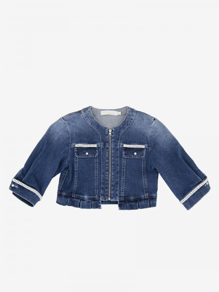 Loredana denim jacket with rhinestones