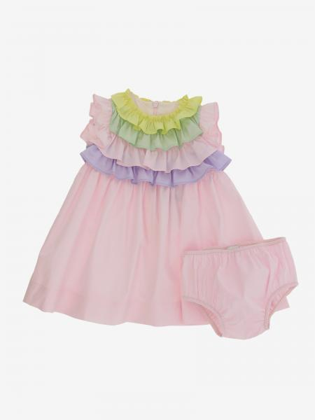 Il Gufo dress with colored ruffles