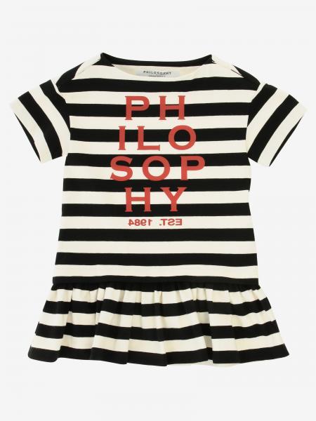 Philosophy Di Lorenzo Serafini striped dress with logo