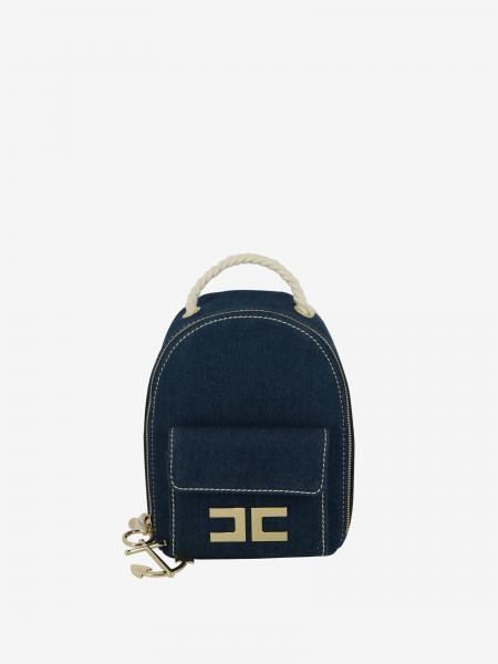 Elisabetta Franchi backpack with logo and anchor