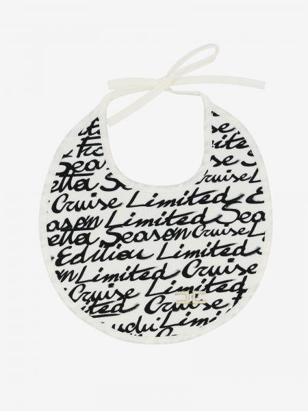 Elisabetta Franchi bib with all over logo