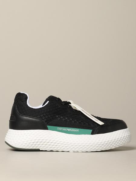 Sneakers Emporio Armani in pelle e rete
