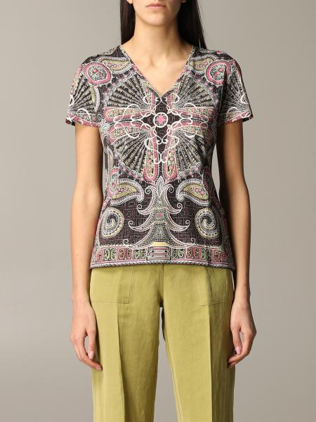 Etro printed v-neck T-shirt