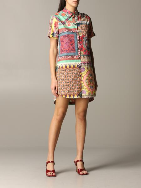 Etro shirt dress with ethnic print