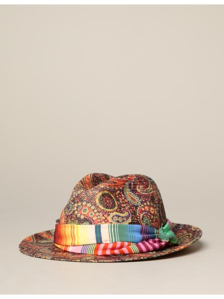 Panama Etro hat with paisley print